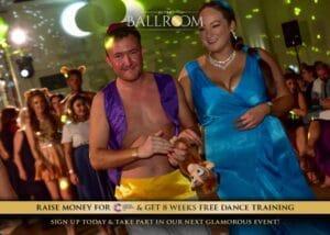 Aladdin and Jasmine costume at Ultra Ballroom