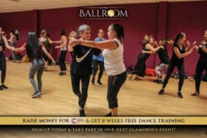 People from all backgrounds learning how to ballroom dance