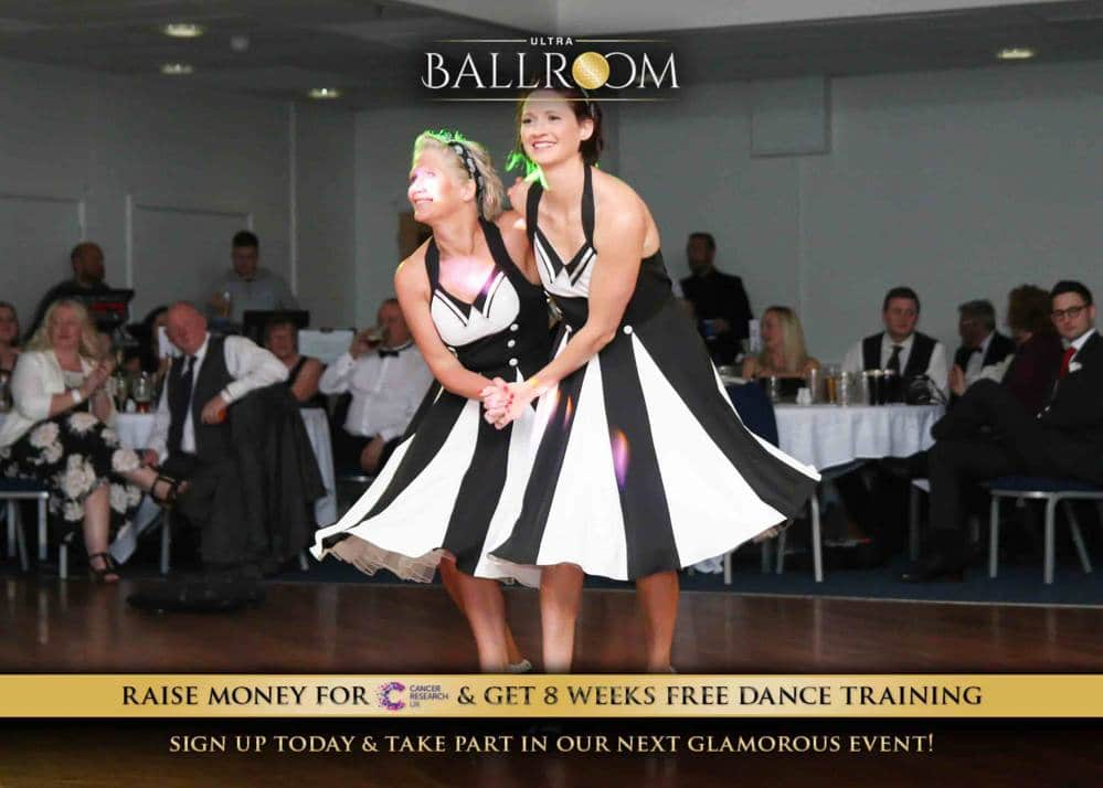 Gemma taking part in Ultra Ballroom Leicester in 2018