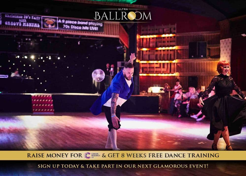 Tom Digby, Ultra Events rep taking part in Ultra Ballroom